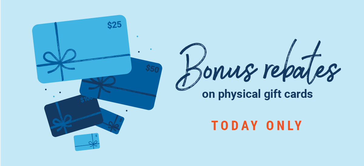 Physical gift card promo