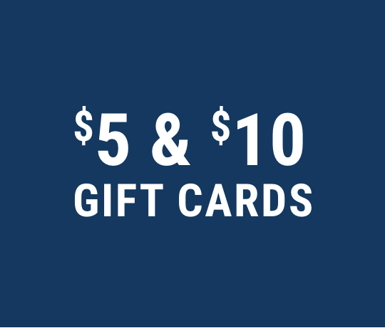 $5 and $10 gift cards