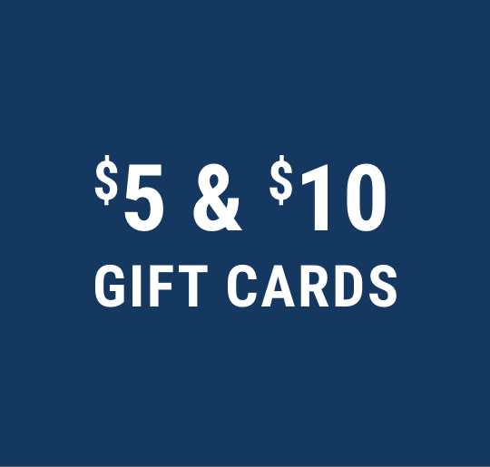 $5 and $10 cards