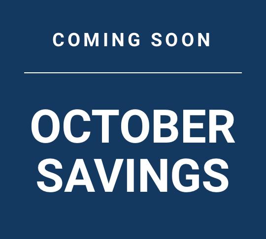 October savings coming soon