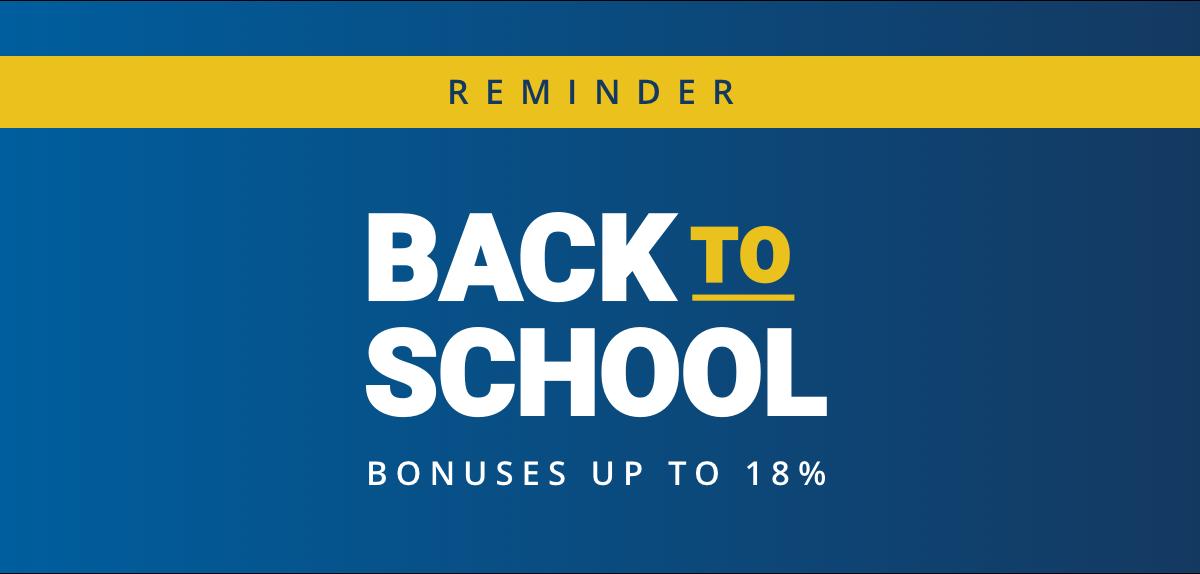 Back-to-school bonuses