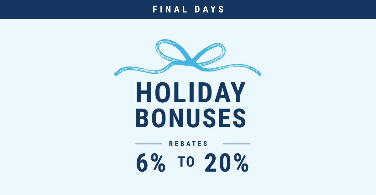 Final days of holiday bonuses