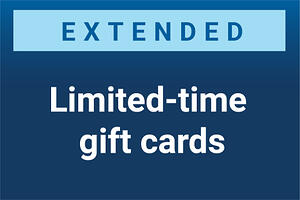 Limited time low denomination gift cards extended availability